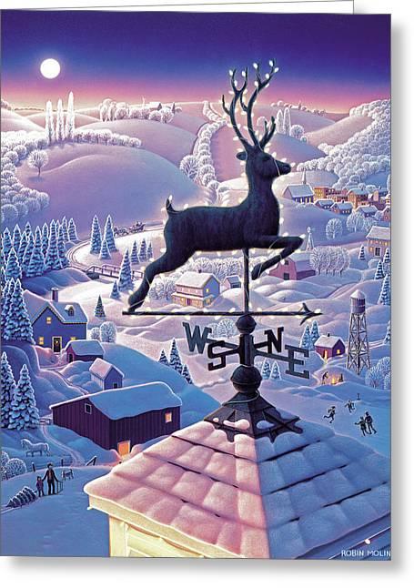 Robin Moline Greeting Cards - Lands End Weathervane Greeting Card by Robin Moline