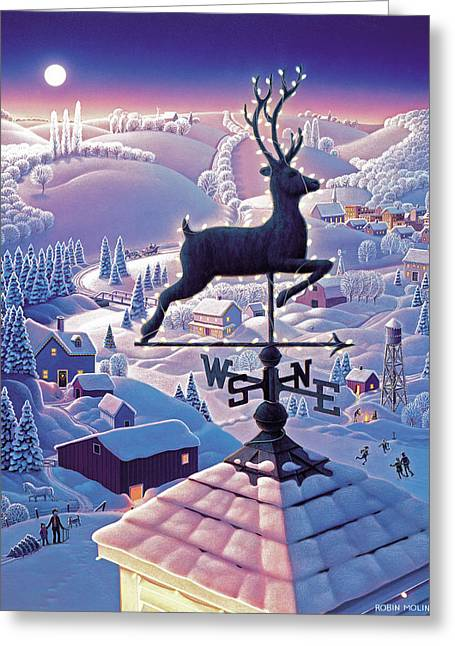 Lands End Weathervane Greeting Card by Robin Moline