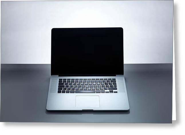 Laptop Greeting Card by Tek Image
