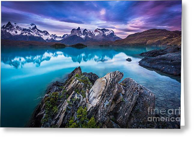 Andes Greeting Cards - Last Light Greeting Card by Inge Johnsson