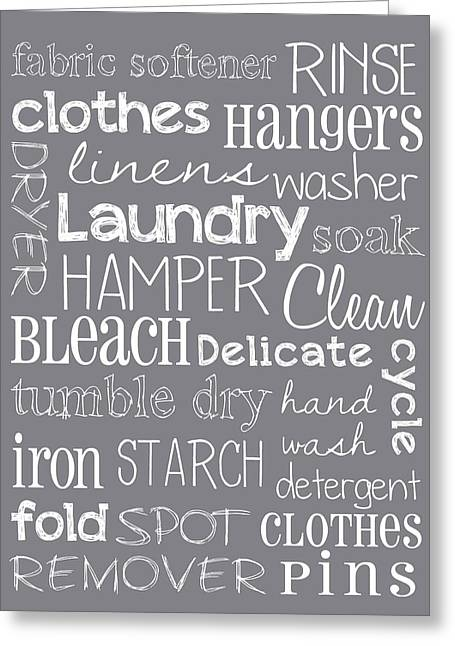Laundry Room Greeting Card by Jaime Friedman
