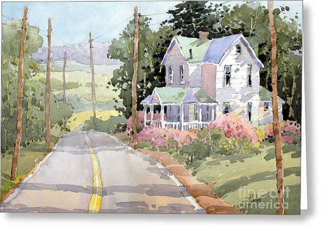 Joyce Hicks Greeting Cards - Laurel Mountain Highlands Farm Greeting Card by Joyce Hicks
