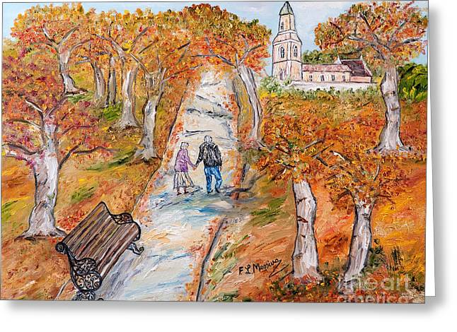 L'autunno della vita Greeting Card by Loredana Messina