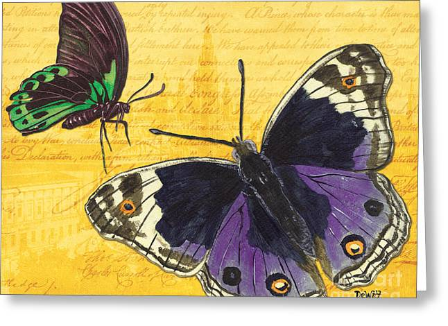 Handwritten Greeting Cards - Le Papillon 4 Greeting Card by Debbie DeWitt