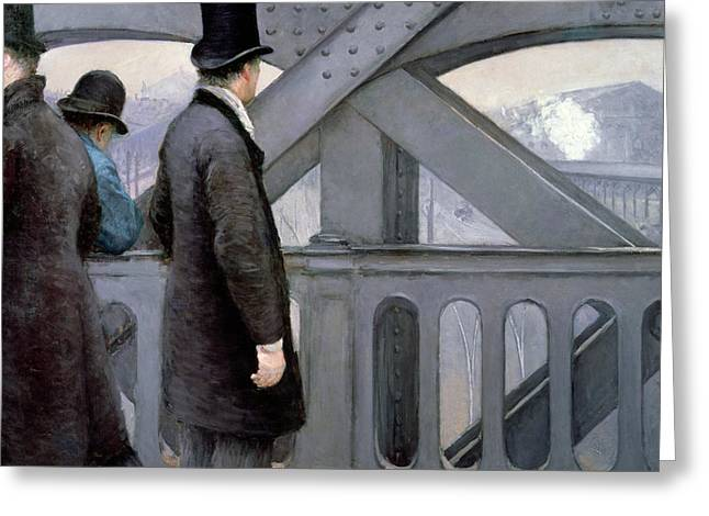 Railway Greeting Cards - Le Pont de lEurope Greeting Card by Gustave Caillebotte