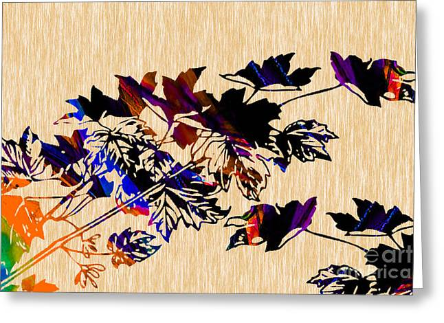 Autumn Photographs Mixed Media Greeting Cards - Leaves Greeting Card by Marvin Blaine