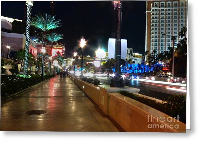 Leaving Las Vegas Greeting Card by David Bearden