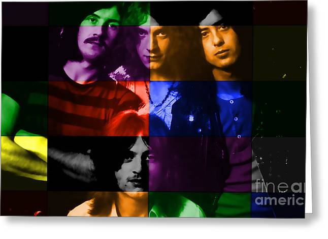 Led Zeppelin Greeting Card by Marvin Blaine