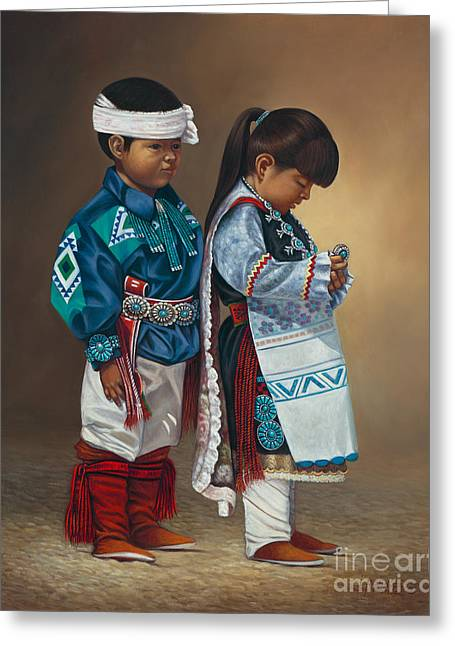 Child Dancers Greeting Cards - Legacy Greeting Card by Ricardo Chavez-Mendez