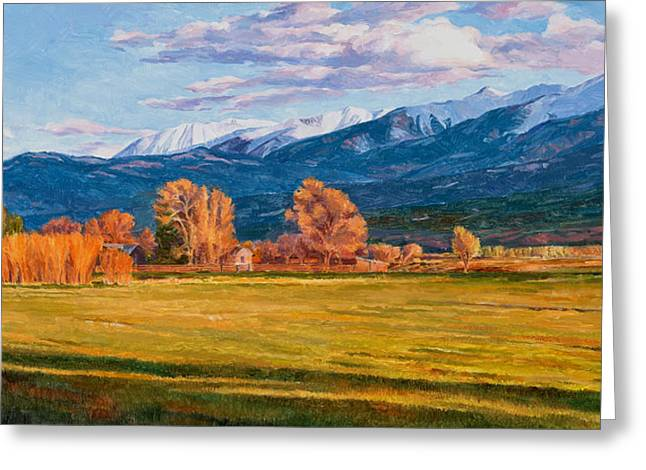 Nature Scene Paintings Greeting Cards - Lengthening Shadows Greeting Card by Shawn Shea