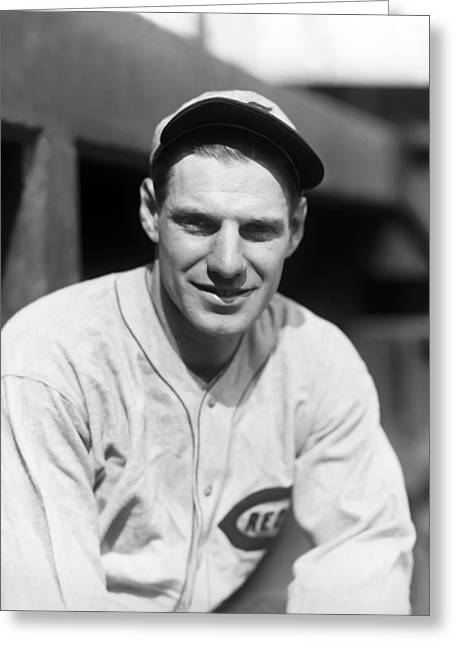 Hall Of Fame Baseball Players Greeting Cards - Leo E. Durocher Greeting Card by Retro Images Archive
