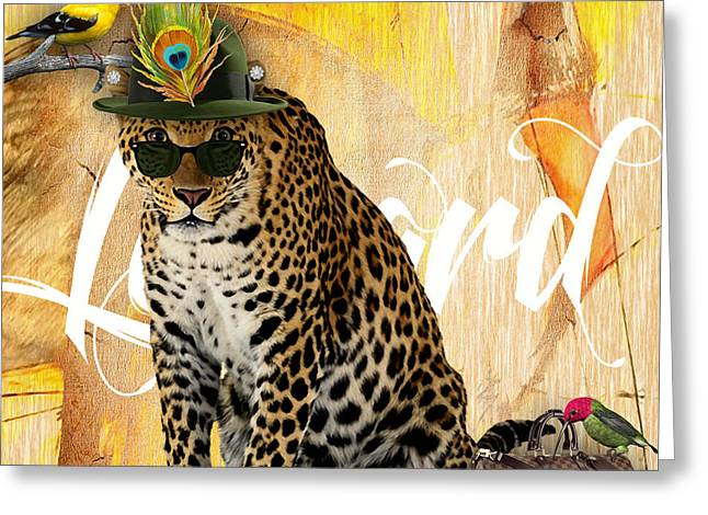 Cat Greeting Cards - Leopard Collection Greeting Card by Marvin Blaine