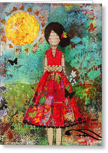 Let The Sun Shine In Greeting Card by Janelle Nichol