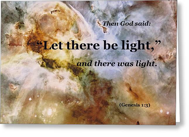 Januszkiewicz Greeting Cards - Let There Be Light Greeting Card by Patricia Januszkiewicz