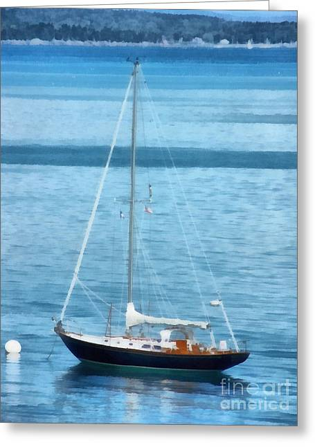 New England Marina Park Greeting Cards - Lets Go Sailing Greeting Card by Helene Guertin