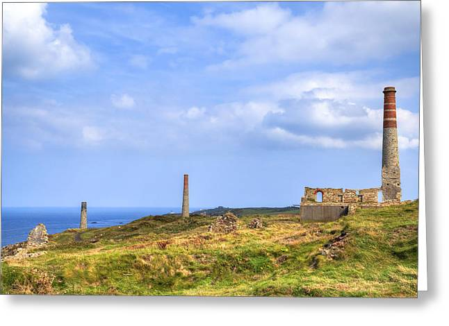 Levant Greeting Cards - Levant Mine - Cornwall Greeting Card by Joana Kruse