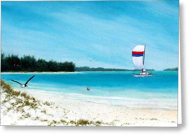Sand Dunes Paintings Greeting Cards - Lido Shores Greeting Card by Charles Yates