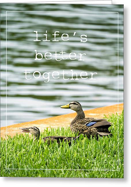 Fort Meyers Greeting Cards - Lifes better together Greeting Card by Edward Fielding
