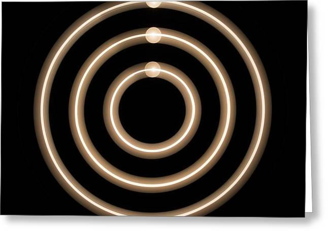 Light Trails Greeting Card by Lawrence Lawry