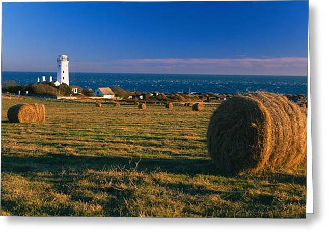Bale Greeting Cards - Lighthouse On The Coast, Portland Bill Greeting Card by Panoramic Images