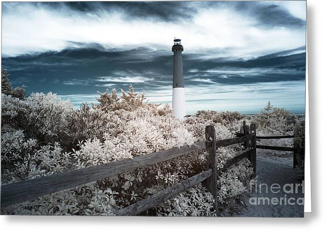 Down The Shore Greeting Cards - Lighthouse Walk Greeting Card by John Rizzuto