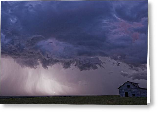 Striking Images Greeting Cards - Lightning Strikes Over The Prairies Greeting Card by Robert Postma