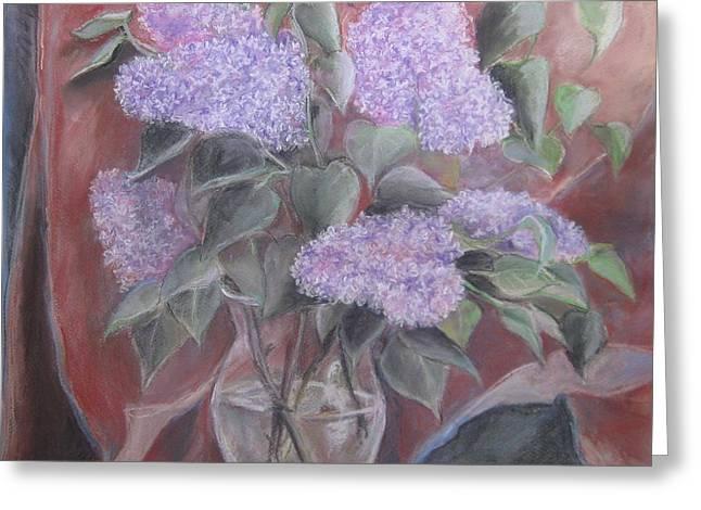 Lilac Pastels Greeting Cards - Lilacs Greeting Card by Katarzyna Popowicz