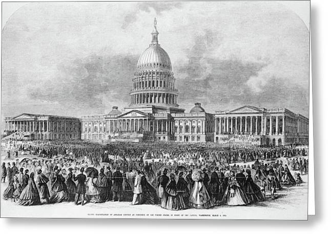 Lincoln Inauguration, 1865 Greeting Card by Granger