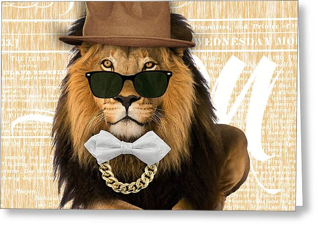Jungle Greeting Cards - Lion Collection Greeting Card by Marvin Blaine