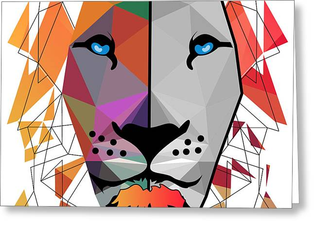 Equine Art Work Greeting Cards - Lion Greeting Card by Mark Ashkenazi