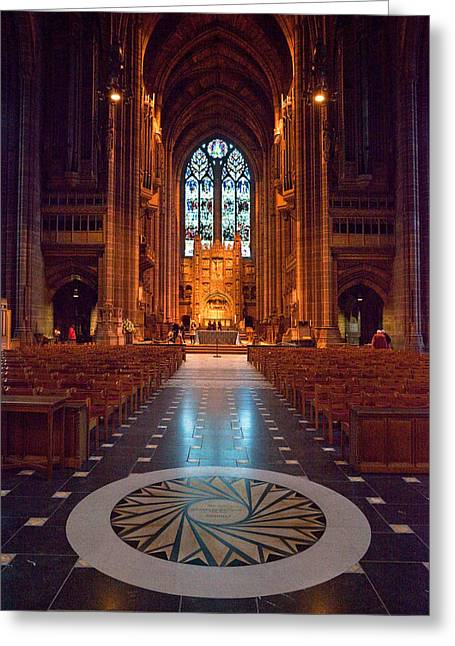 Architectural Styles Greeting Cards - Liverpool Cathedral, Liverpool Greeting Card by Panoramic Images