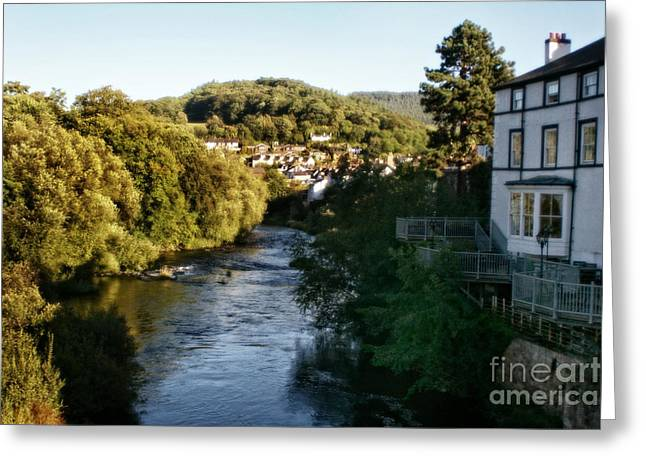Garden Scene Digital Art Greeting Cards - Llangollen In Wales Greeting Card by Michael Braham
