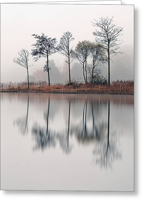 Reflection In Water Greeting Cards - Loch Ard Reflections Greeting Card by Grant Glendinning