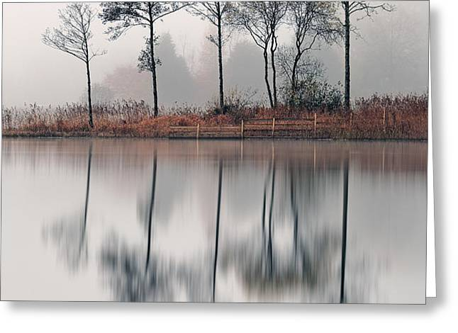 Loch Ard Reflections Greeting Card by Grant Glendinning