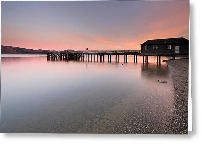 Sunset Framed Prints Greeting Cards - Loch Lomond Sunset Greeting Card by Grant Glendinning
