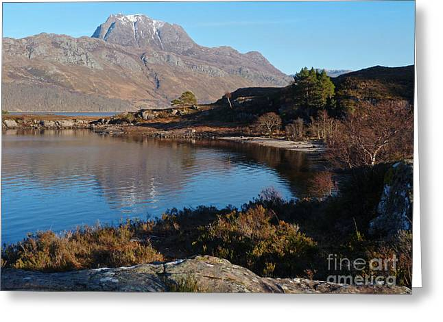 Slioch Greeting Cards - Loch Maree and Slioch Greeting Card by Phil Banks