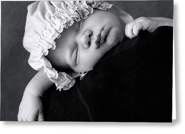 Collection Greeting Cards - Lochie 3 weeks Greeting Card by Anne Geddes