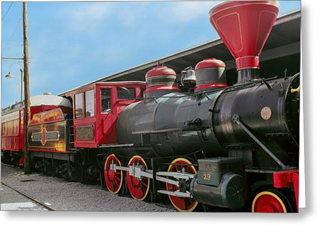Chattanooga Greeting Cards - Locomotive At The Chattanooga Choo Greeting Card by Panoramic Images