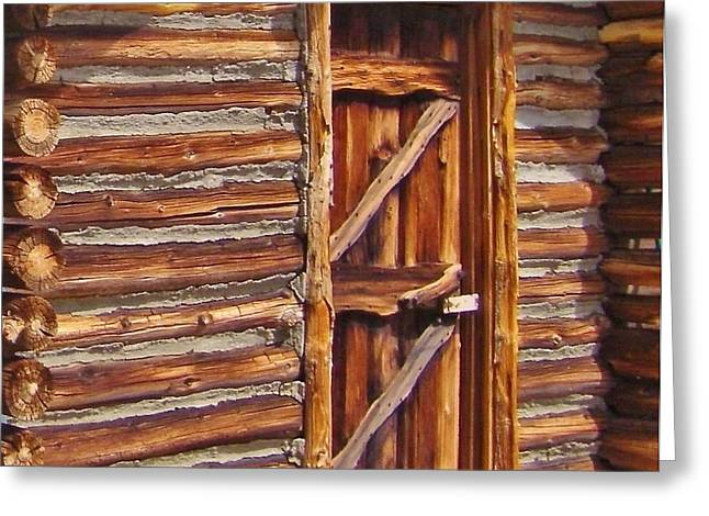 Recently Sold -  - Log Cabins Greeting Cards - Logs Greeting Card by Marilyn Diaz