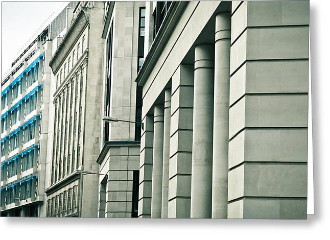 Muted Greeting Cards - London architecture Greeting Card by Tom Gowanlock
