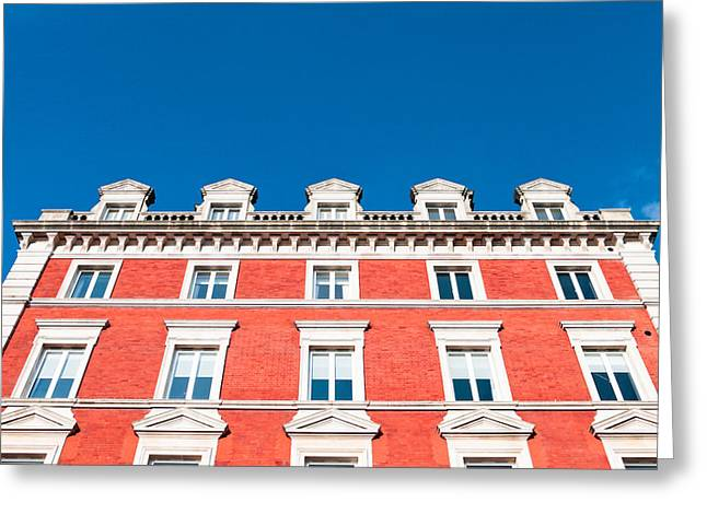 Posh Greeting Cards - London building Greeting Card by Tom Gowanlock
