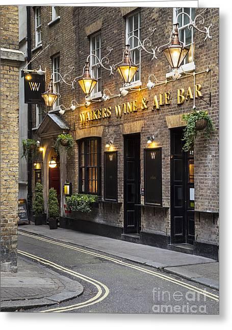 European Restaurant Greeting Cards - London Pub Greeting Card by Brian Jannsen