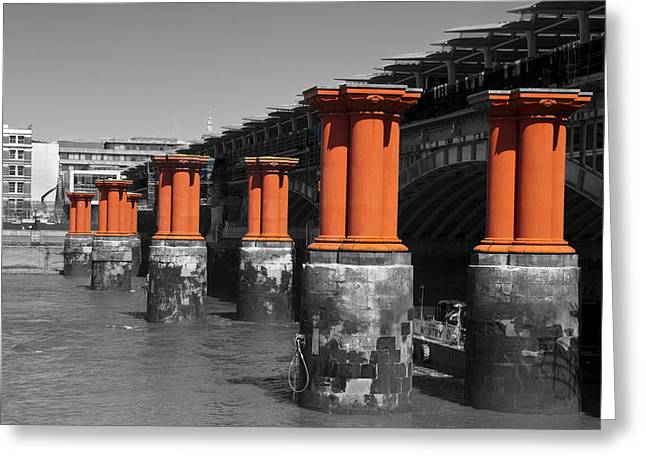 London Thames Bridges Greeting Card by David French