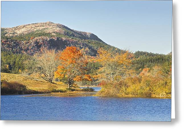 Maine Islands Greeting Cards - Long Pond Acadia National Park Mount Desert Island Maine Greeting Card by Keith Webber Jr
