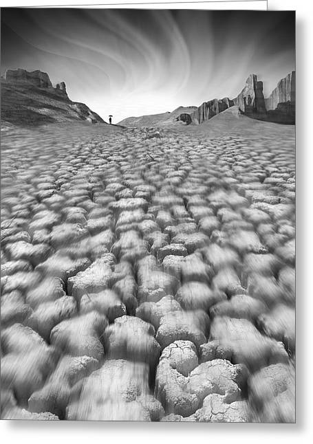 Ominous Greeting Cards - Long Walk Greeting Card by Mike McGlothlen