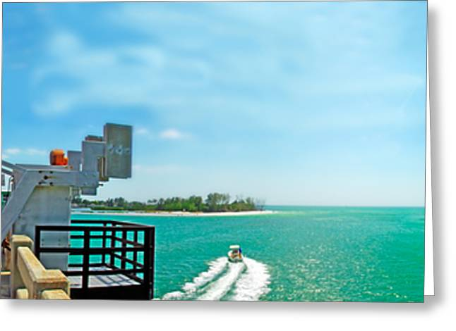 Anna Maria Island Greeting Cards - Longboat Pass Drawbridge Greeting Card by Rolf Bertram