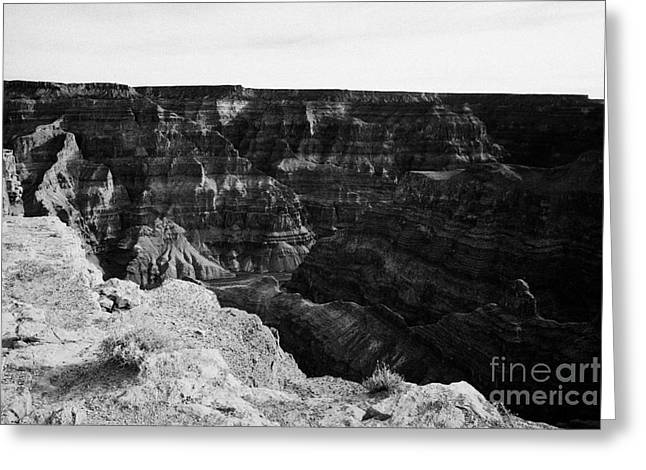 Guano Greeting Cards - looking down into the grand canyon from guano point Grand Canyon west arizona usa Greeting Card by Joe Fox