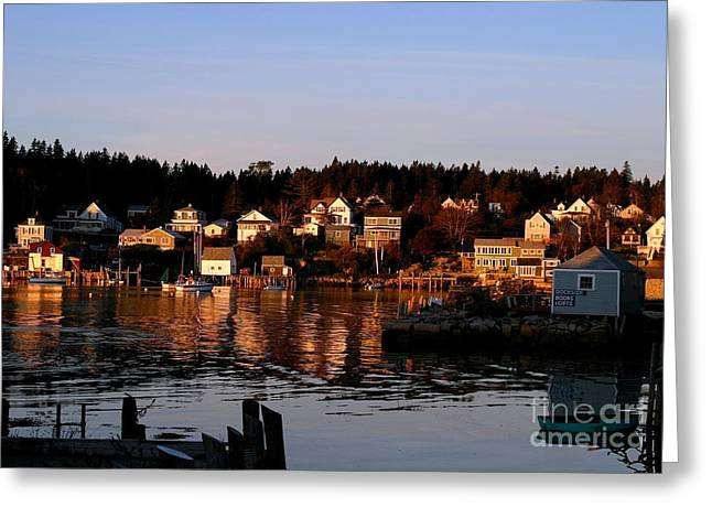 New England Village Greeting Cards - Looking East Greeting Card by Laura Mace Rand