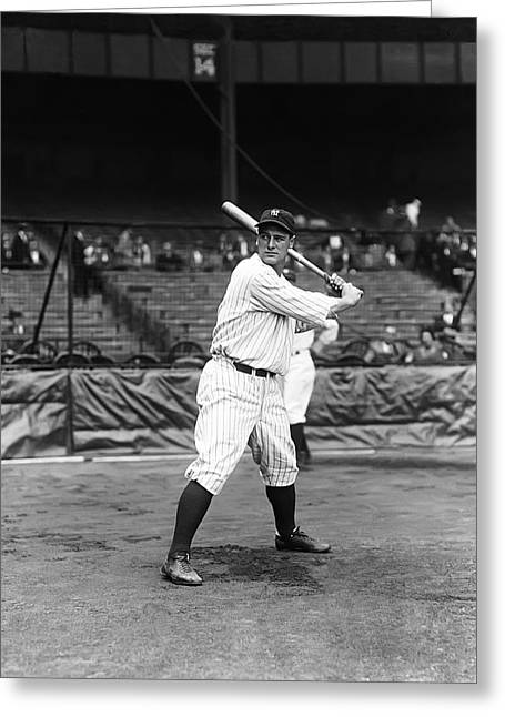 Antique Pictures Greeting Cards - Lou Gehrig New York  Greeting Card by Retro Images Archive