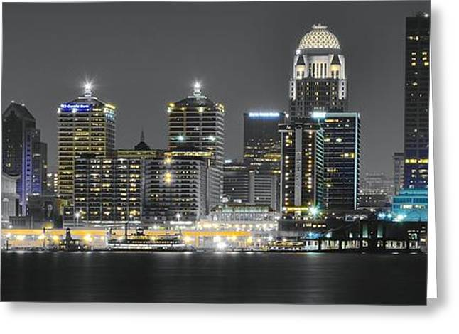 Louisville Lights Greeting Card by Frozen in Time Fine Art Photography